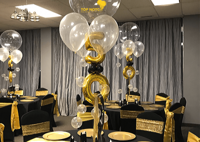 50th Birthday - Black and Gold-Centerpieces-Table-balloons-Top Notch Balloon Creations-Northville-Ann Arbor-Detroit-Michigan (7)