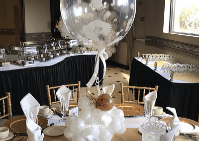 Baby Angel Centerpieces - Brown Babies- Balloon Numbers- Cloud Centerpieces - Top Notch Balloon Creations - Northville-Ann Arbor-Detroit-Michigan - Heavenly Sent Baby Shower (1)