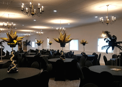 Black and Gold Centerpiecesv-Decor-Centerpieces-Table-balloons-Top Notch Balloon Creations-Northville-Ann Arbor-Detroit-Michigan (6)