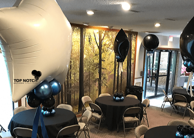 Graduation Decor- Grad Centerpieces - Top Notch Balloon Creations - Northville-Ann Arbor-Detroit-Michigan - Club House Decor