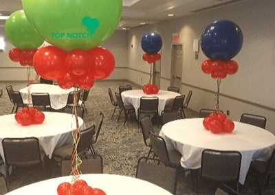 Jumbo Balloon Centerpieces - KinderCare -Top Notch Balloon Creations-Northville-Ann Arbor-Detroit-Michigan - Corporate Launches