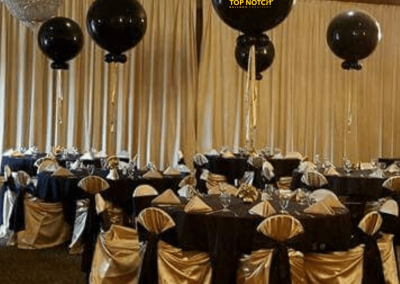 Jumbo Balloons - Elegant Centerpiece - New Years Eve - Christmas-Centerpieces-Table-balloons-Top Notch Balloon Creations-Northville-Ann Arbor-Detroit-Michigan - Corporate Galas