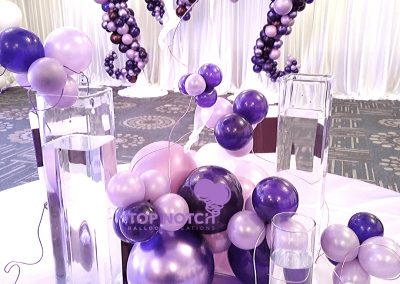 Purple wedding-Organic Balloon Decor-Centerpieces-Table-balloons-Top Notch Balloon Creations-Northville-Ann Arbor-Detroit-Michigan