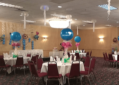 Under The Sea Balloon Decor-Centerpieces-Table-balloons-Top Notch Balloon Creations-Northville-Ann Arbor-Detroit-Michigan - Baby Shower