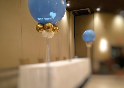 Baby-Shower-3 foot-Balloon-Blue-Gold-White-Boy-Laura-Manor-Livonia-Top-Notch-Balloon-Creations-Northville-Mi-Balloon-Artist-Decorator