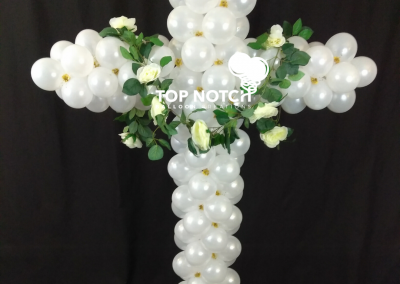 Balloon Cross - Spiritual Decor - Palm Sunday - Top Notch Balloon Creations - Northville - Michigan - Professional Balloon Artist
