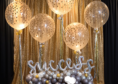 Confetti Balloons - Jumbo Confetti Balloons - Organic Balloons - Backdrops - Success - Top Notch Balloon Creations - Northville - Michigan
