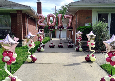 Prom Walk-out - Graduations - Prom - Balloon Columns - Outside Decor - Top Notch Balloon Creations - Northville - Michigan